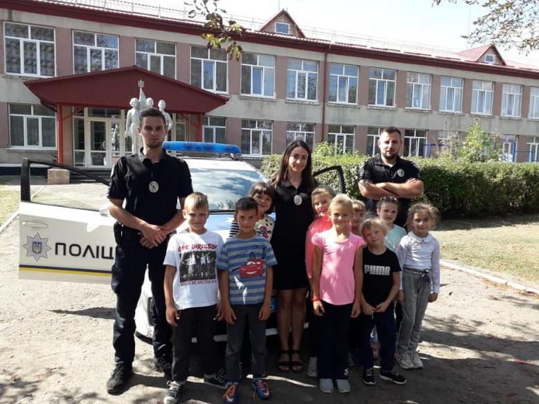 Поліцейські провели урок для дітей у Воскодавському НВК