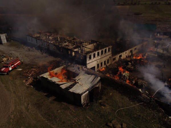 Пожежа біля монастиря