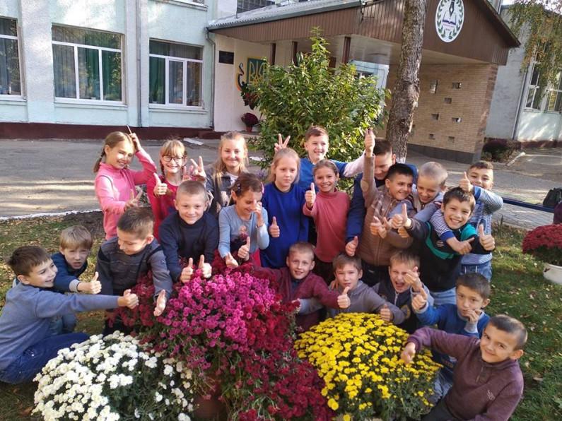 Бал квітів: у Гощанській школі відбувається виставка хризантем
