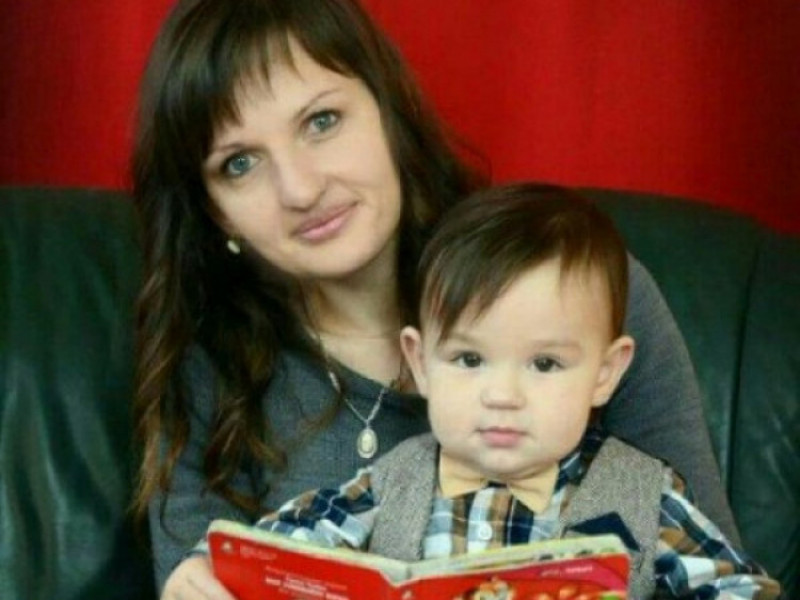 Владик Кур'ят з мамою