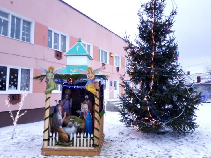 У Бугрині облаштували різдвяний вертеп