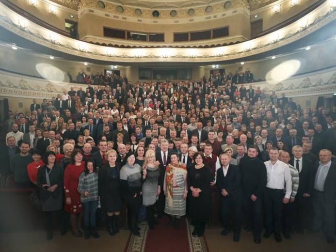 Делегація з Гощанщини відвідала зустріч з Президентом